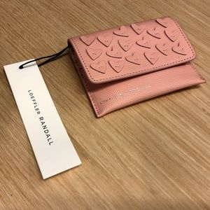 Loeffler Randall Pink Heart Wallet